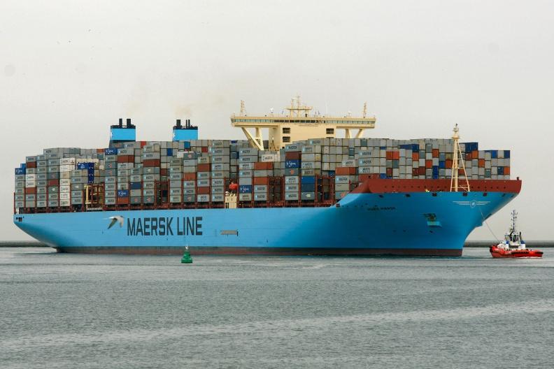 Marie Maersk auf den Weg in den Rotterdamer Hafen.jpg
